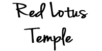 red lotus temple sign